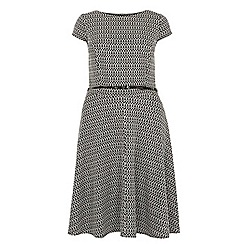 Dorothy Perkins - Billie curve black jacquard skater dress