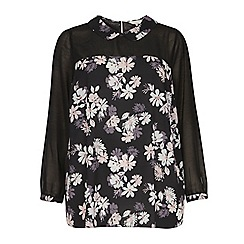 Dorothy Perkins - Billie & Blossom Curve black peter pan collar blouse