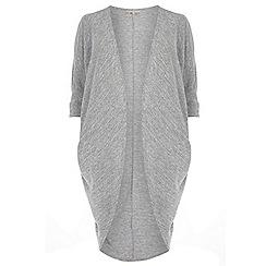 Dorothy Perkins - Billie & Blossom Curve grey marl longline cocoon cardigan