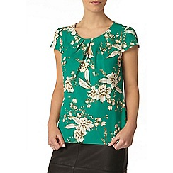 Dorothy Perkins - Billie petites green floral shell top