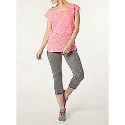 Dorothy Perkins - Dp active pink burnout t-shirt