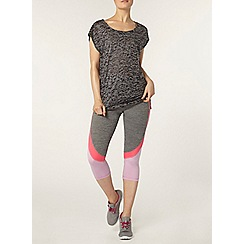 Dorothy Perkins - Dp active grey burnout t-shirt
