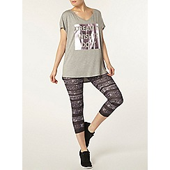 Dorothy Perkins - Dp active grey slogan t-shirt