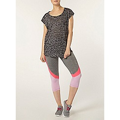 Dorothy Perkins - Dp active grey contrast crop leggings