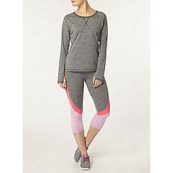 Dorothy Perkins - Dp active grey spacedye long sleeve top