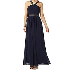 Dorothy Perkins - Showcase navy halter neck maxi dress