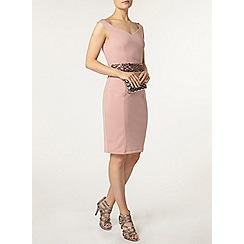 Dorothy Perkins - Pink bardot bodycon dress