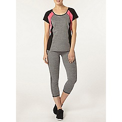 Dorothy Perkins - Dp active grey panel preformance t-shirt
