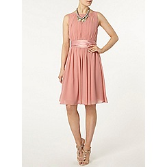 Dorothy Perkins - Showcase pink satin tie prom dress