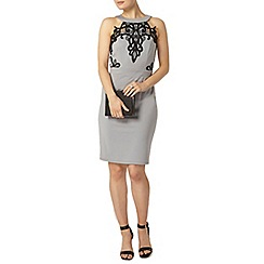 Dorothy Perkins - Showcase grey halter neck lace bodycon dress