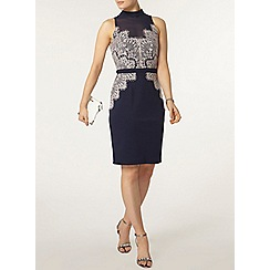 Dorothy Perkins - Showcase navy lace detail bodycon dress