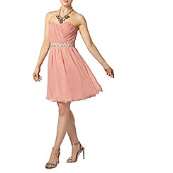 Dorothy Perkins - Showcase pink embellished bandeau prom dress