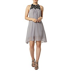 Dorothy Perkins - Showcase grey embellished trapeze dress