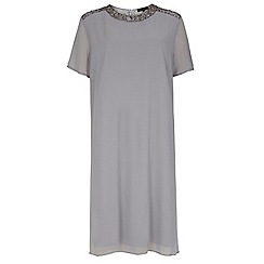 Dorothy Perkins - Showcase curve grey embellished shift dress