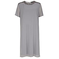 Dorothy Perkins - Showcase curve grey embellished shift dress