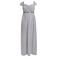 Dorothy Perkins - Showcase curve grey embellished waist maxi dress