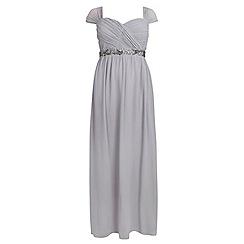 Dorothy Perkins - Showcase curve grey embellished waist maxi dress