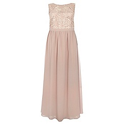 Dorothy Perkins - Showcase curve mink lace body maxi dress