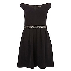 Dorothy Perkins - Showcase curve black bardot prom dress