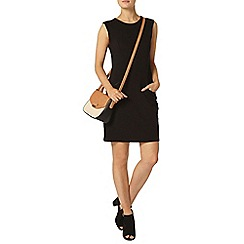 Dorothy Perkins - Luxe black pu shift dress