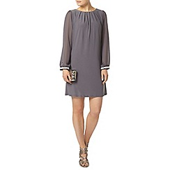 Dorothy Perkins - Billie black label grey gem trim cuff shift dress