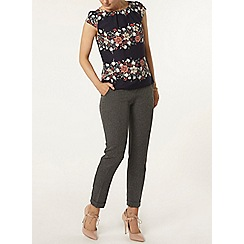 Dorothy Perkins - Billie and blossom navy border floral shell top