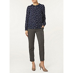 Dorothy Perkins - Billie and blossom navy tulip peter pan blouse