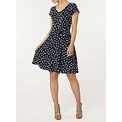 Dorothy Perkins - Billie and blossom navy tulip print soft dress