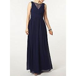 Dorothy Perkins - Showcase navy embellished neck maxi dress