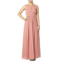 Dorothy Perkins - Showcase peach embellished maxi dress