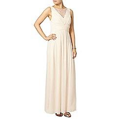 Dorothy Perkins - Showcase nude embellished maxi dress