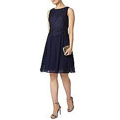 Dorothy Perkins - Showcase navy lace body prom dress