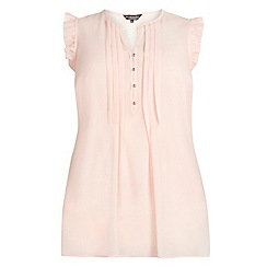 Dorothy Perkins - Billie curve blush frill detail blouse