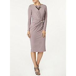 Dorothy Perkins - Luxe porcini bar detail dress