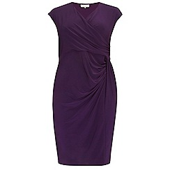 Dorothy Perkins - Billie curve purple ruche detail dress