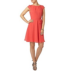 Dorothy Perkins - Billie and blossom coral soft belted dress