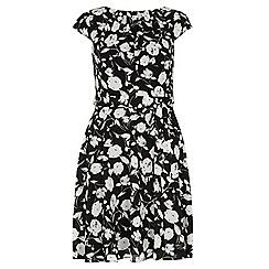 Dorothy Perkins - Billie & blossom mono floral soft belted dress
