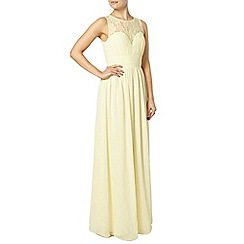 Dorothy Perkins - Showcase lemon helena maxi dress
