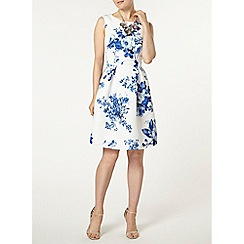 Dorothy Perkins - Luxe  blue china floral prom dress