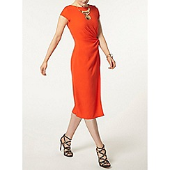 Dorothy Perkins - Luxe orange woven knot detail dress