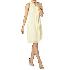 Dorothy Perkins - Showcase lemon georgia trapeze dress