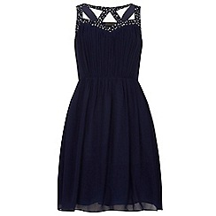Dorothy Perkins - Showcase navy talia prom dress