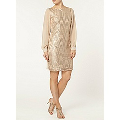 Dorothy Perkins - Billie black label nude sequin shift dress