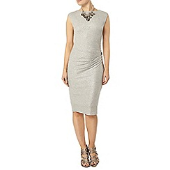 Dorothy Perkins - Billie black label silver shimmer knot dress
