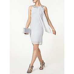 Dorothy Perkins - Billie and blossom grey embellished trapeze dress