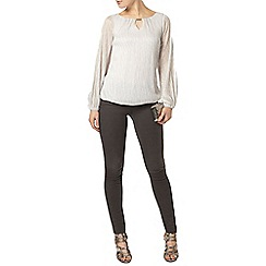 Dorothy Perkins - Billie black label silver trim detail blouse