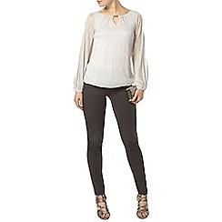 Dorothy Perkins - Billie black label silver trim detail blouse