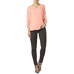 Dorothy Perkins - Billie & blossom coral trim detail blouse