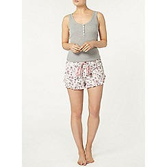 Dorothy Perkins - Loungewear floral ruffle edge shorts