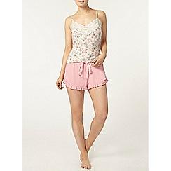 Dorothy Perkins - Loungewear pink ruffle edge shorts